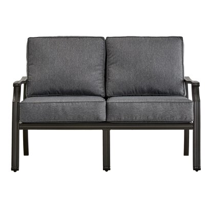 Brunelle Loveseat with Cushions Fabric: Gray