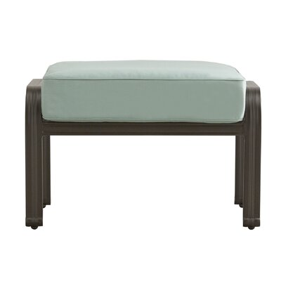 Brunelle Ottoman with Cushion Color: Blue