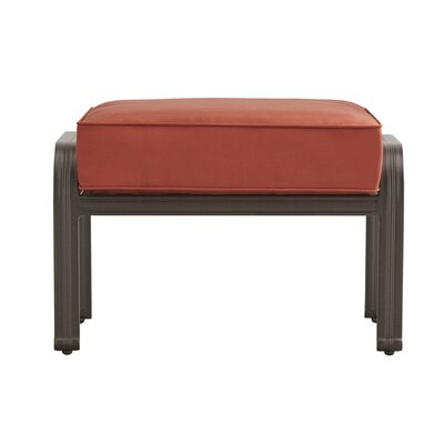 Brunelle Ottoman with Cushion Fabric: Red
