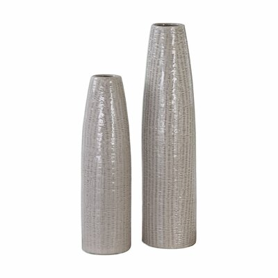 Gray 2 Piece Vase Set