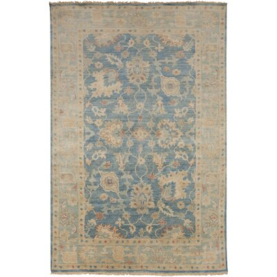 Eller Beige/Teal Rug Rug Size: Rectangle 86 x 116