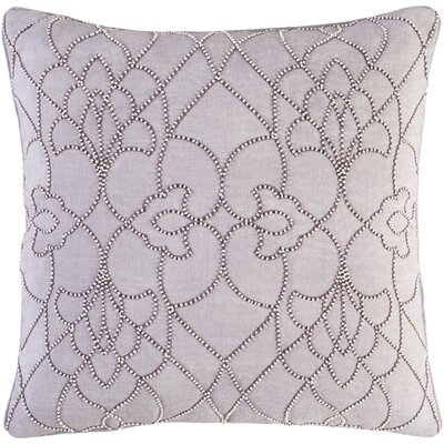 Christianson Linen Pillow Cover Size: 22 H x 22 W x 1 D, Color: Purple
