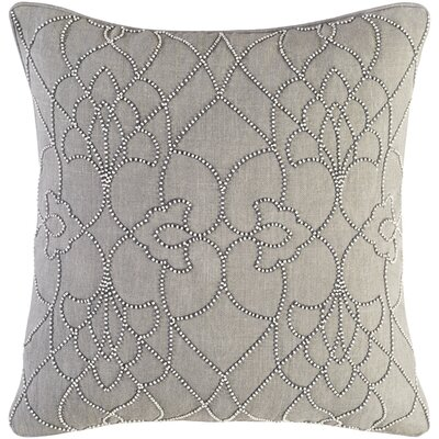 Christianson Linen Pillow Cover Size: 22 H x 22 W x 1 D, Color: Gray