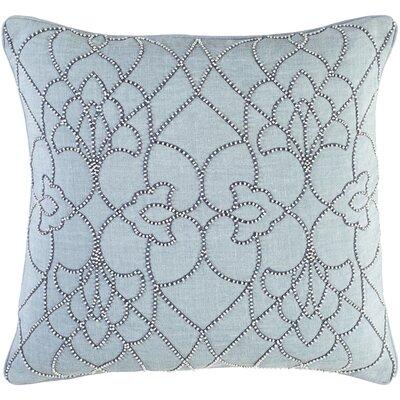 Christianson Linen Pillow Cover Color: Blue, Size: 22 H x 22 W x 1 D