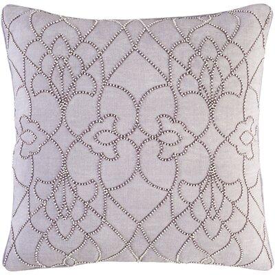 Christianson Linen Pillow Cover Size: 22 H x 22 W x 1 D, Color: Purple