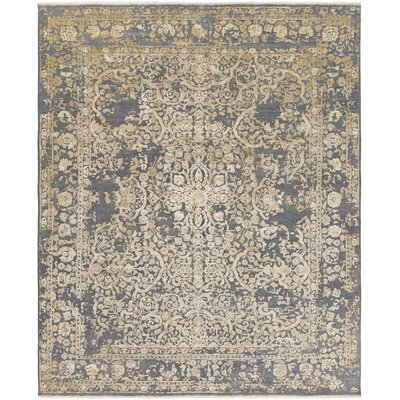 Hanrahan Hand-Knotted Gray/Beige Area Rug Rug Size: 9 x 13