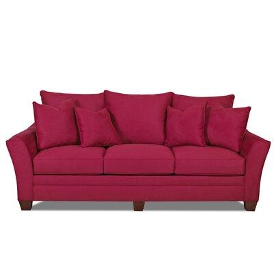 Moffet Sofa Finish: Microsuede Cinnabar