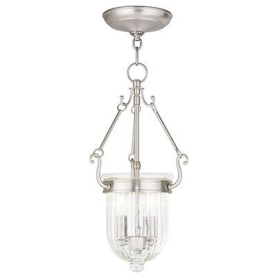 Lindley 2-Light Candle Foyer Pendant Finish: Brushed Nickel
