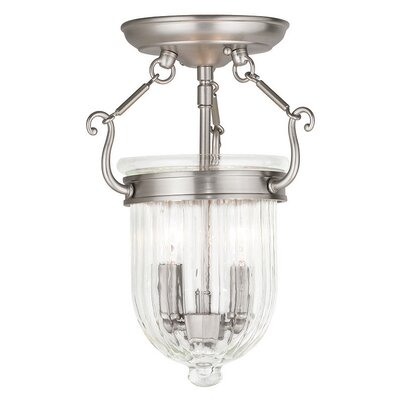 Lindley 2-Light Foyer Pendant Finish: Brushed Nickel