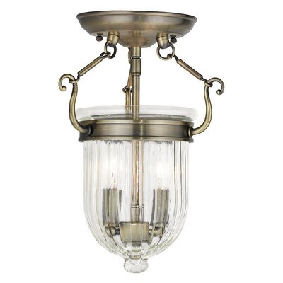 Lindley 2-Light Foyer pendant Finish: Antique Brass
