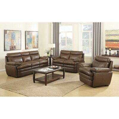 Millwood Leather Configurable Living Room Set