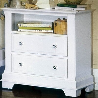 Marquardt 2 Drawer Nightstand Color: Snow White