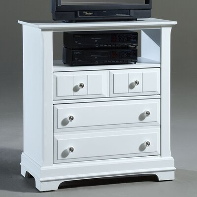 Marquardt 2 Drawer Media Chest Color: Snow White