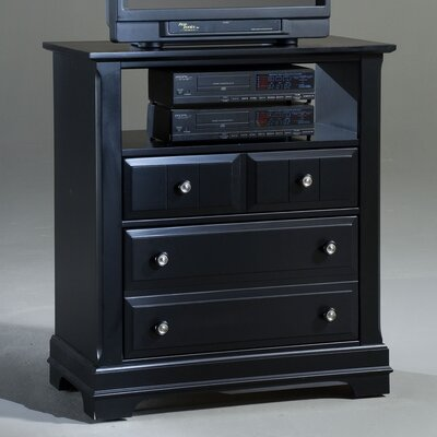 Marquardt 2 Drawer Media Chest Finish: Black