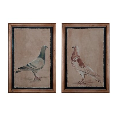 Rock Doves 2 Piece Framed Painting Print Set
