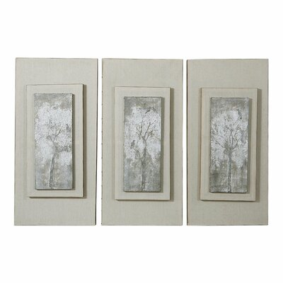 Triptych Trees 3 Piece Framed Painting Set