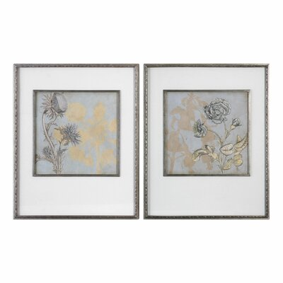 Shadow Florals 2 Piece Framed Graphic Art Set