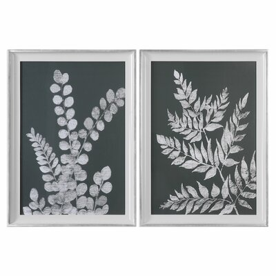 Ferns 2 Piece Framed Graphic Art Set