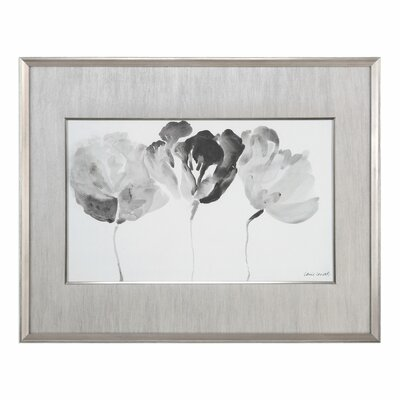 Trio in Light Floral Framed Painting Print