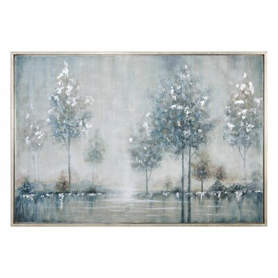 Walk in the Meadow Landscape Framed Painting