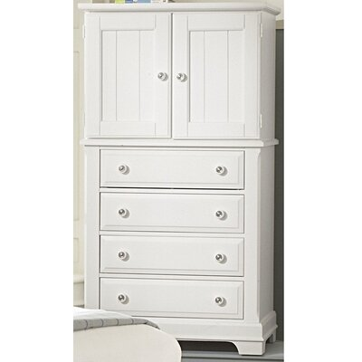 Marquardt 4 Drawer Chest Color: Snow White