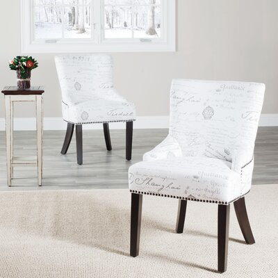 York Upholstered Dining Chair Upholstery: White / Grey