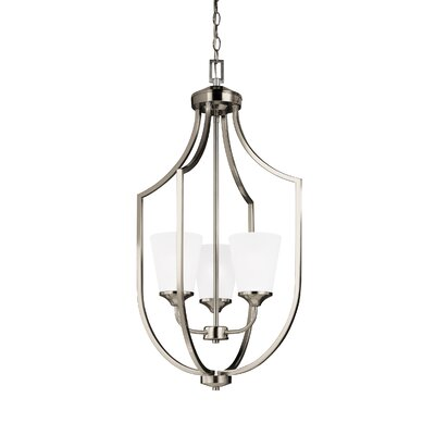 Elkton 3-Light Hall Pendant Finish: Brushed Nickel