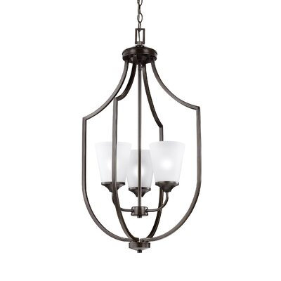 Elkton 3-Light Hall Pendant Finish: Burnt Sienna