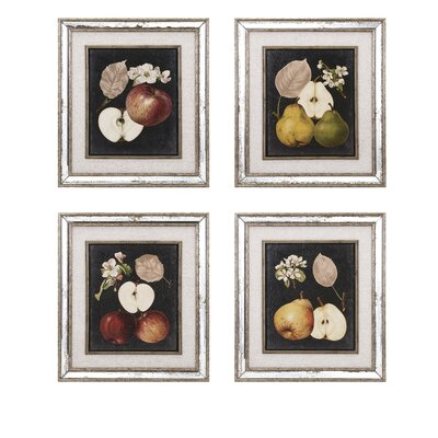 Fruit 4 Piece Graphic Art Set