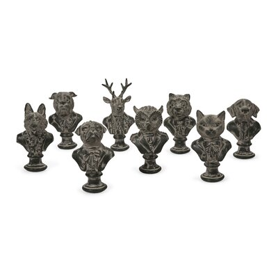 Suited Animal 8 Piece Bust Set