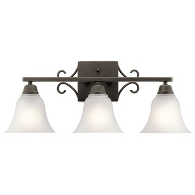 Cardington 3-Light Vanity Light Finish: Old Bronze