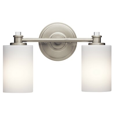Clara 2-Light Vanity Light Finish: Brushed Nickel