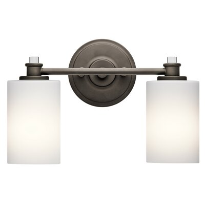 Clara 2-Light Vanity Light Finish: Old Bronze