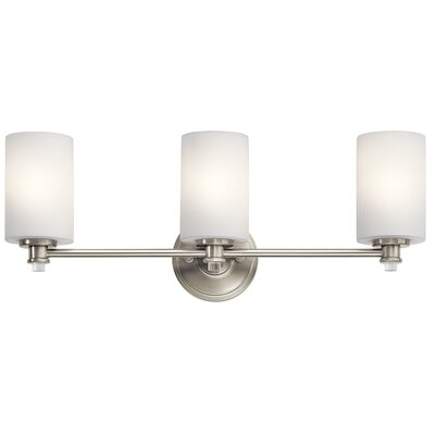 Clara 3-Light Vanity Light Finish: Brushed Nickel
