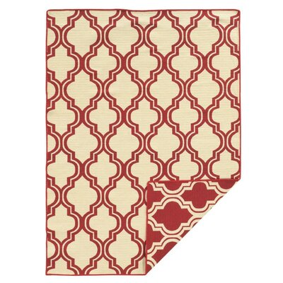 Hand-Tufted Red Area Rug Rug Size: 5 x 8