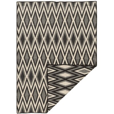 Corvally Hand-Tufted Gray/Black Area Rug