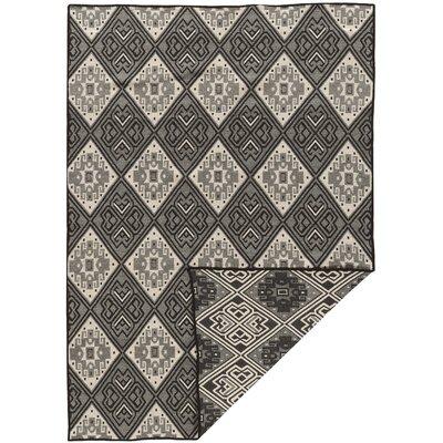 Corvally Hand-Woven Black/Gray Area Rug