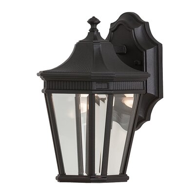 Chesterhill 1-Light Outdoor Wall Lantern Finish: Black