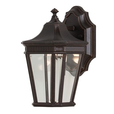 Chesterhill 1-Light Outdoor Wall Lantern Finish: Grecian Bronze