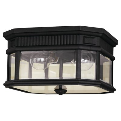 Chesterhill 2-Light Flush Mount Finish: Black