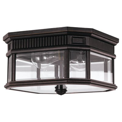 Chesterhill 2-Light Flush Mount Finish: Grecian Bronze