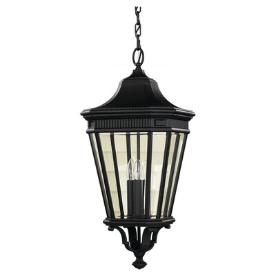 Chesterhill 1-Light Outdoor Pendant Finish: Black