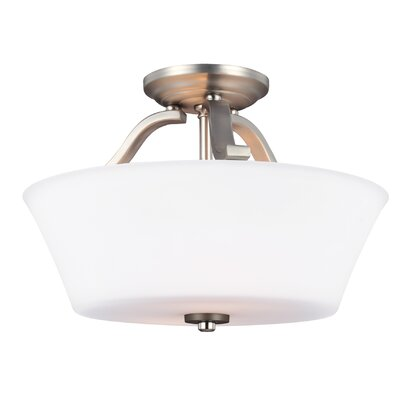 Cincinnati 2-Light Semi Flush Mount