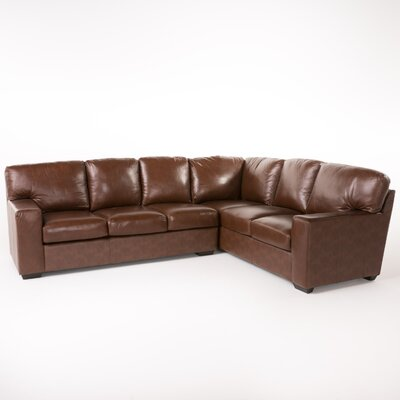 Calabria Leather Sectional Upholstery: Wine