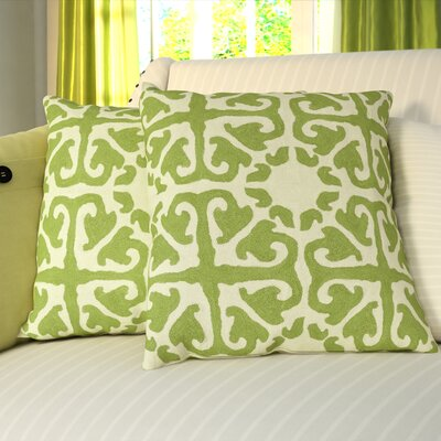 Meacham Shag 100% Cotton Throw Pillow Size: 22 H x 22 W x 2.5 D, Color: Lime / Green