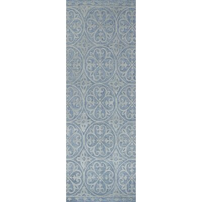 Newson Hand-Tufted Light Blue Area Rug Rug Size: Runner 26 x 8
