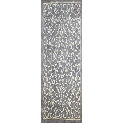 Danforth Hand-Tufted Grey Area Rug Rug Size: Runner 26 x 8