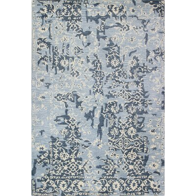 Dellroy Hand-Tufted Light Blue Area Rug Rug Size: 79 x 99