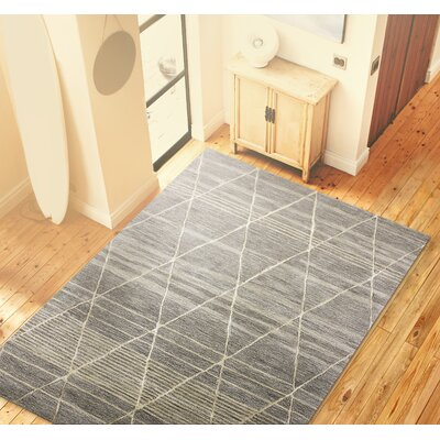 Carnlea Hand-Tufted Taupe Area Rug Rug Size: Rectangle 56 x 86