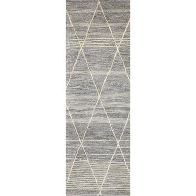 Dellroy Hand-Tufted Taupe Area Rug Rug Size: Runner 26 x 8